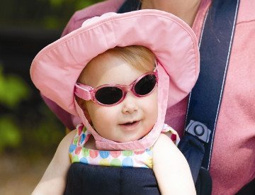 baby wearing real kids shades