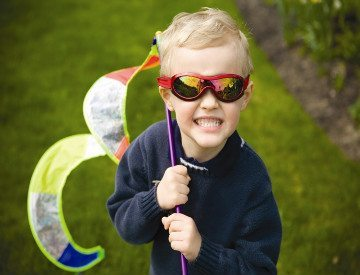 child in real kids shades
