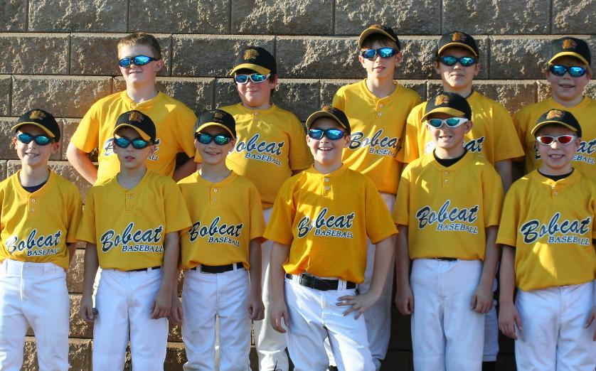 Chester County Bobcats 10u in Real Kids Shades