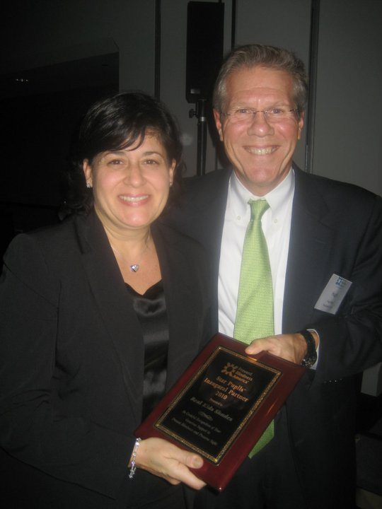 Lisa Medora of Real Kids Shades and Hugh Parry CEO of Prevent Blindness America