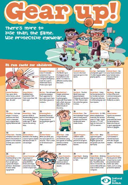 protective eye wear calendar
