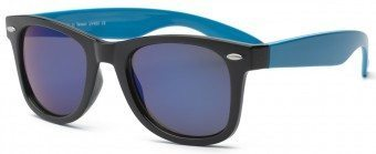 Young Adult Swag Sunglasses Black and Blue