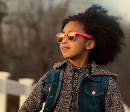 Girl in Pink Sunglasses